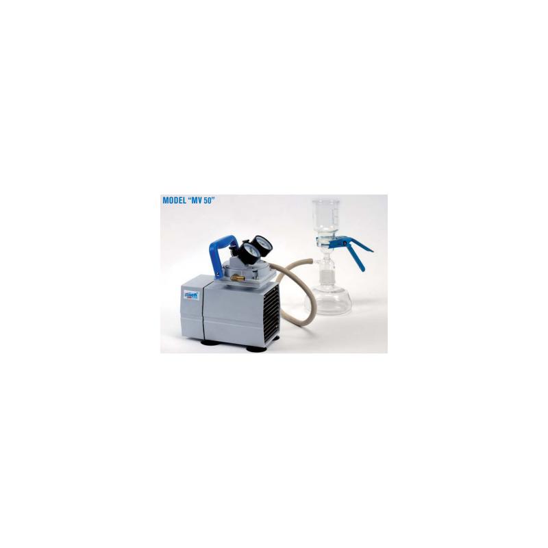 MV50 típusú 200 mBar végvákuumú membrán vákuumpumpa, levegő-, gáz- és gőzhöz