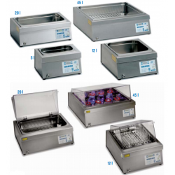 PRECISDIG típusú 45 literes, digitális laboratóriumi vízfürdő, környezeti hőmérséklet +5°C - 200°C