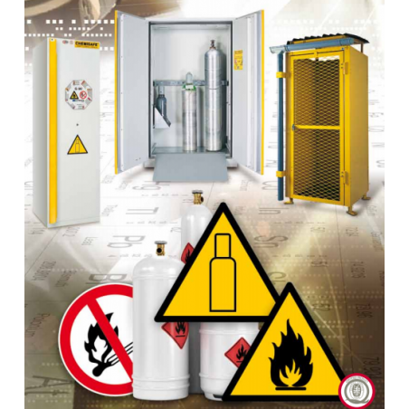 Gázpalack tároló szekrények (kültéri és beltéri)