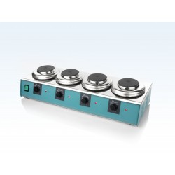 LABINCO L364 négyhelyes analóg laboratóriumi lombikmelegítő, helyenként max. 1 literhez, max. 450°C