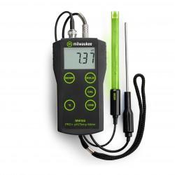 MW102 PRO+ hordozható pH és hőmérsékletmérő