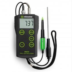 MW102 FOOD hordozható pH és hőmérsékletmérő élelmiszeripari felhasználásra