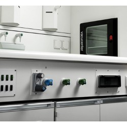 SALVISLAB VC50 típusú, 50 literes laboratóriumi, vákuum szárítószekrény, tisztatéri vákuum szárítószekrény