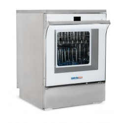 SALVISLAB SCD G60 típusú, szárítós, üvegajtós laboratóriumi mosogatógép