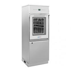 SALVISLAB SCD G650 típusú, szárítós, üvegajtós laboratóriumi mosogatógép, mosószer tároló rekeszel