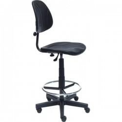 Praktika Lift Ring laboratóriumi szék, laborszék, poliuretán hát- és ülőfelülettel, lábtartó gyűrűvel, magasított kivitel